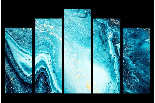 Модульная картина Голубая Абстракция