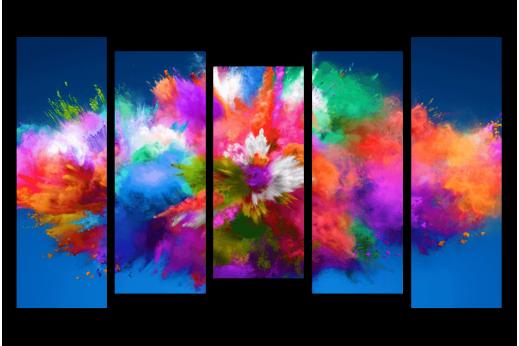 Модульная картина Краски