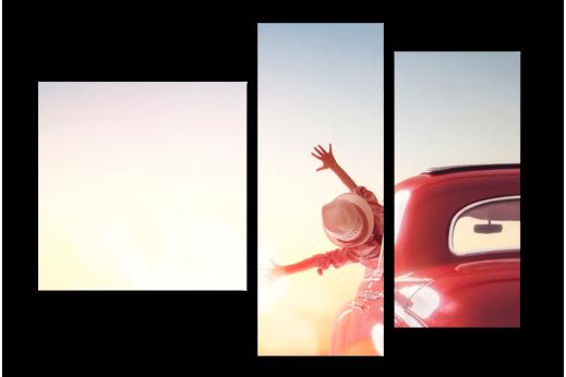 Модульная картина Девушка в машине