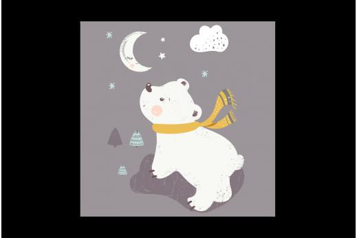 Картина Белый мишка